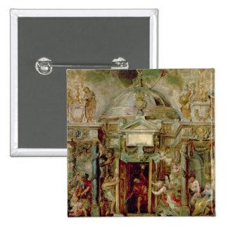 Temple of Janus, 1630s Pinback Button