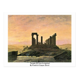 Temple Of Juno In Agrient Postcard