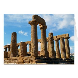 Temple of Juno, Valley of the Temples, Agrigento Card