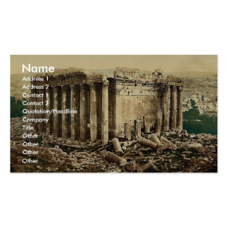Temple of Jupiter, exterior, Baalbek, Holy Land, ( Business Card Templates