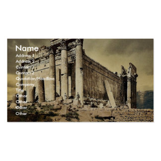 Temple of Jupiter, leaning column, Baalbek, Holy L Business Card Template