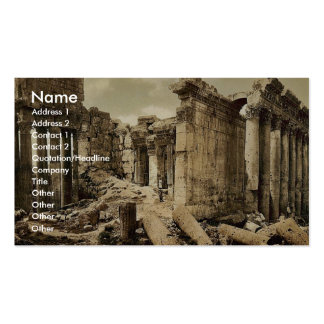 Temple of Jupiter, the facade, Baalbek, Holy Land, Business Cards