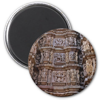 Temple of Khajuraho, India 2 Inch Round Magnet