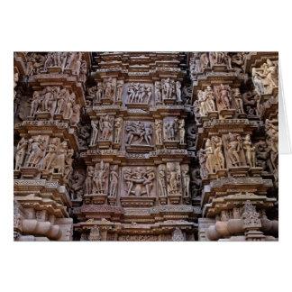 Temple of Khajuraho, India Greeting Cards