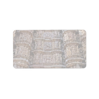 Temple of Khajuraho, India Personalized Address Label