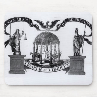 Temple of Liberty, 1834 Mouse Pad