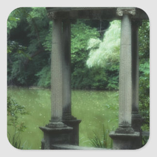 Temple of Love at the Old Westbury Gardens Square Sticker