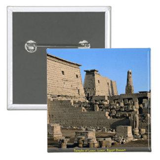 Temple of Luxor, Luxor, Egypt Desert Button