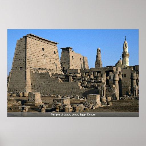 Temple of Luxor, Luxor, Egypt Desert Posters