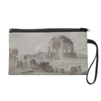 Temple of Minerva Medici, Rome, 1754 (drawing and Wristlet Purse