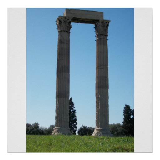 Temple of Olympian Zeus (Athens)-Gate Posters