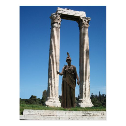 Temple of Olympian Zeus (Athens)-Gate with godess Postcards