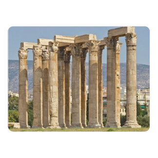 "Temple of Olympian Zeus, Athens, Greece 6.5"" X 8.75"" Invitation Card"