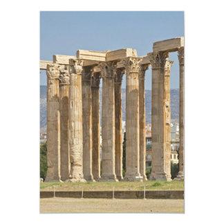 "Temple of Olympian Zeus, Athens, Greece 5"" X 7"" Invitation Card"