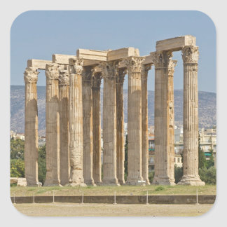 Temple of Olympian Zeus, Athens, Greece Square Sticker
