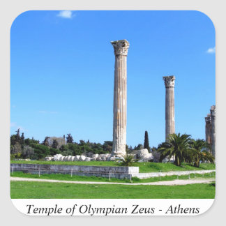 Temple of Olympian Zeus - Athens Square Sticker