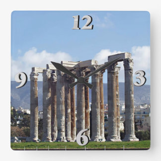 Temple of Olympian Zeus Square Wall Clock