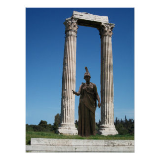Temple of Olympian Zeus-Gate with goddess Athena Poster
