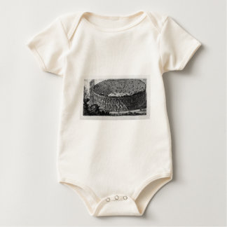 Temple of Pola in Istria by Giovanni Battista Baby Bodysuit