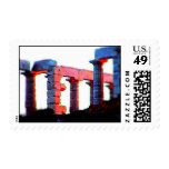 Temple of Poseidon at  Sun set Stamps