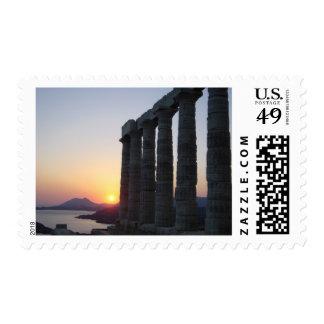 Temple of Poseidon, Athens Greece  Postage Stamp