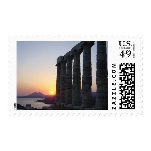 Temple of Poseidon, Athens Greece  Stamp