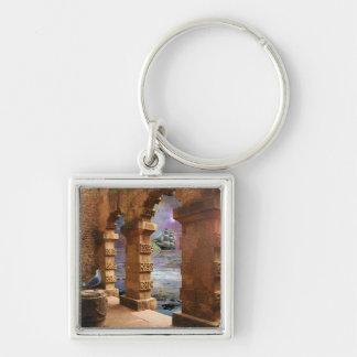 Temple of Poseidon Keychain