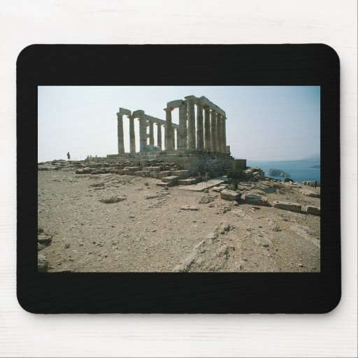Temple of Poseidon Ruins Mouse Pad