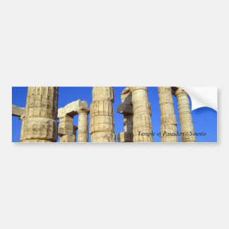 Temple of Poseidon - Sounio Bumper Sticker