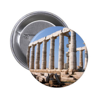 Temple of Poseidon Sounion Greece Button