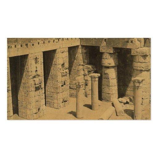 Temple of Ramses III. Egypt circa 1870 Business Card