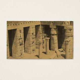 Temple of Ramses III. Egypt circa 1870 Business Card