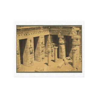 Temple of Ramses III. Egypt circa 1870 Canvas Print
