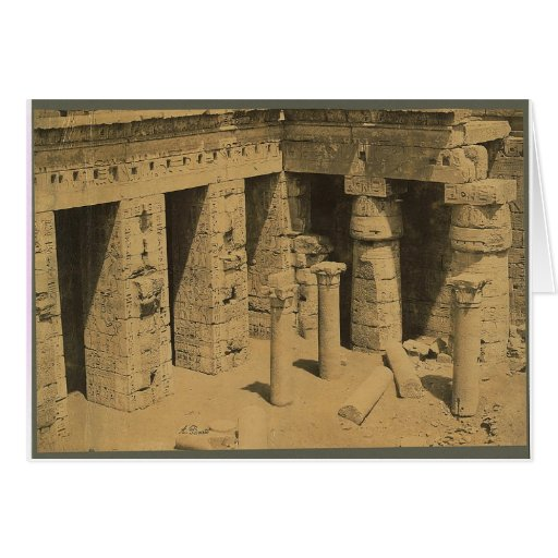 Temple of Ramses III. Egypt circa 1870 Greeting Cards