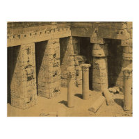 Temple of Ramses III. Egypt circa 1870 Postcard