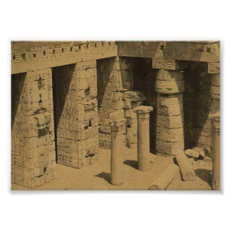 Temple of Ramses III. Egypt circa 1870 Poster
