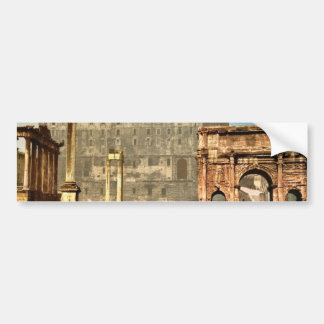 Temple of Saturn and Triumphal Arch of Septimus Se Bumper Stickers