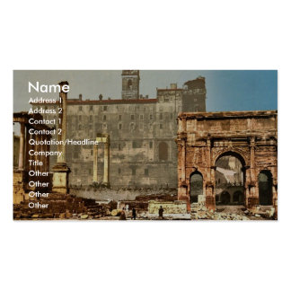 Temple of Saturn and Triumphal Arch of Septimus Se Business Card Templates