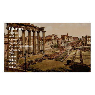 Temple of Saturn and Triumphal Arch of Septimus Se Business Card Template