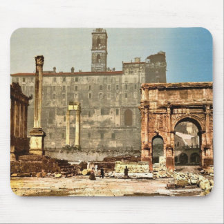 Temple of Saturn and Triumphal Arch of Septimus Se Mouse Pad