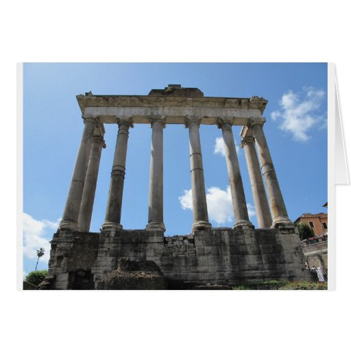 Temple of Saturn - early 4th century BC Card