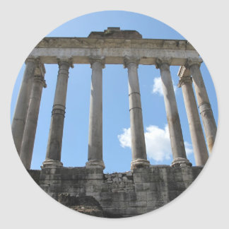Temple of Saturn - early 4th century BC Classic Round Sticker