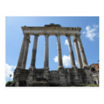 Temple of Saturn - early 4th century BC Postcard