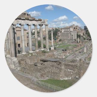 Temple of Saturn, Forum Romanum Classic Round Sticker