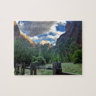 Temple of Sinawava Zion National Park Utah Jigsaw Puzzle