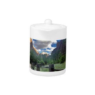 Temple of Sinawava Zion National Park Utah Teapot