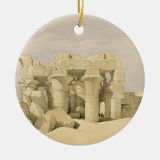 Temple of Sobek and Haroeris at Kom Ombo, from 'Eg Ceramic Ornament