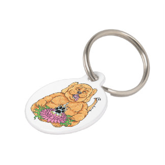 Temple of the Dog Keychain Pet Name Tag
