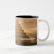 pyramid, trees, sunset, desktop wallpaper, Mug with custom graphic design