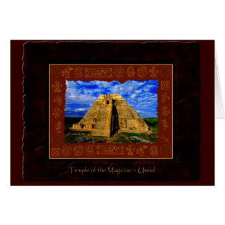 """""""Temple of the Magician"""" Greeting Card"""